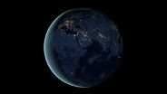 Animation - Rotating Earth at Night