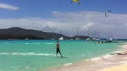 Kiteboarding in Necker Island