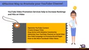 Get YouTube Video Promotion Services to Grow Your Channel