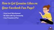 Buy Real Facebook Likes For Your Fan Page